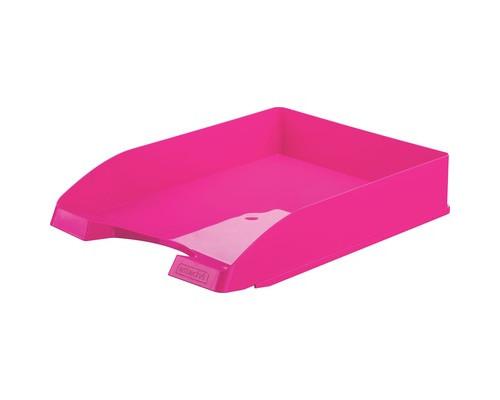 Лоток для бумаг горизонтальный Attache Fantasy розовый - (490037К)