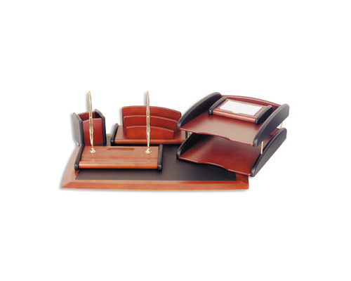 Набор настольный Good Sunrise деревянный 6 предметов красное дерево - (77117К)