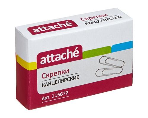 Скрепки Attache металлические оцинкованные 28 мм 100 штук в упаковке - (115672К)