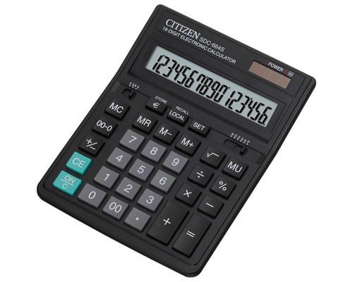 Калькулятор настольный Citizen SDC-664S 16-разрядный черный - (218880К)