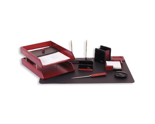 Набор настольный Good Sunrise деревянный 9 предметов темно-красный - (77116К)