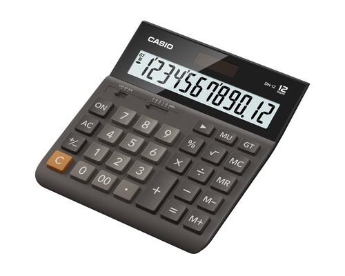 Калькулятор настольный Casio DH-12-BK-S-EH 12-разрядный черный - (438820К)