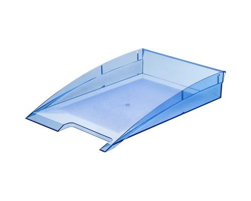 Лоток для бумаг горизонтальный Attache City прозрачный синий - (479429К)