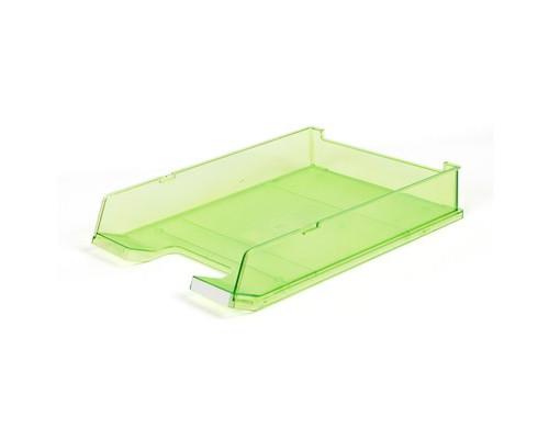Лоток для бумаг горизонтальный Han прозрачный зеленый - (65372К)