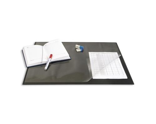Коврик на стол Bantex 49х65 см черный с прозрачным листом) - (42883К)