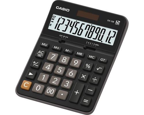 Калькулятор настольный Casio DX-12B 12-разрядный черный - (563823К)