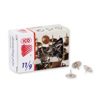 Кнопки канцелярские ICO металлические стальные 100 штук в упаковке - (78264К)