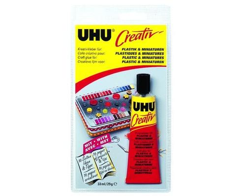 Клей Uhu Creativ для пластика и художественных миниатюр 33 мл - (396090К)