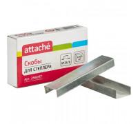 Скобы для степлера №26/6 Attache оцинкованные 1000 штук в упаковке - (256097К)