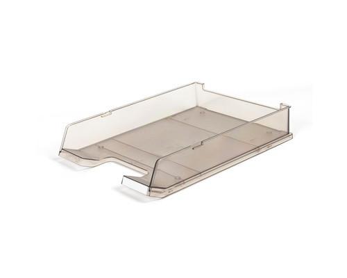 Лоток для бумаг горизонтальный Han прозрачный тонированный - (65374К)