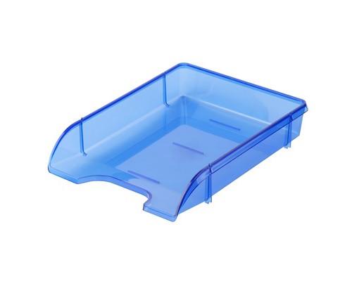 Лоток для бумаг горизонтальный Attache Триколор синий прозрачный - (683960К)