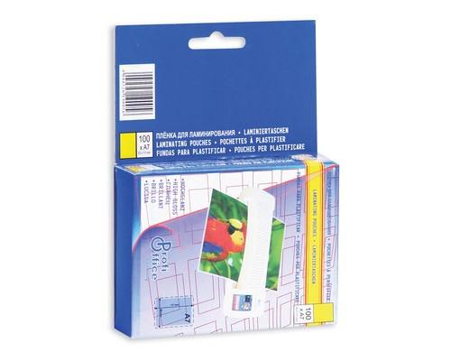 Пленка для ламинирования ProfiOffice 80х111 мм 2х150 мкм глянцевая 100 штук в упаковке - (45203К)