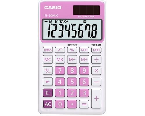 Калькулятор настольный Casio SL-300NC-PK-S-EH 8-разрядный розовый - (489029К)
