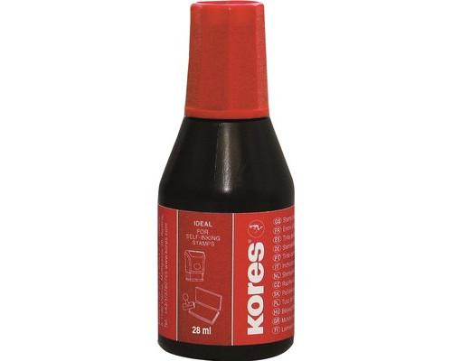 Краска штемпельная Kores красная 28 мл - (4969К)