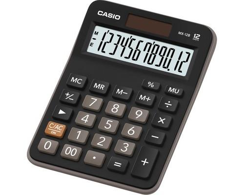 Калькулятор настольный Casio MX-12B 12-разрядный черный - (537016К)