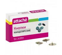 Кнопки канцелярские Attache металлические стальные 100 штук в упаковке - (619852К)
