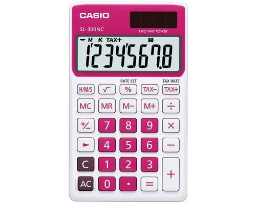 Калькулятор настольный Casio SL-300NC-RD-S-EH 8-разрядный красный - (489028К)