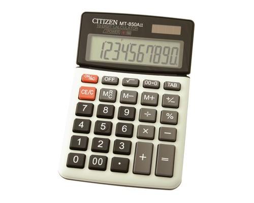 Калькулятор настольный Citizen MT-850AII 10-разрядный белый - (15911К)