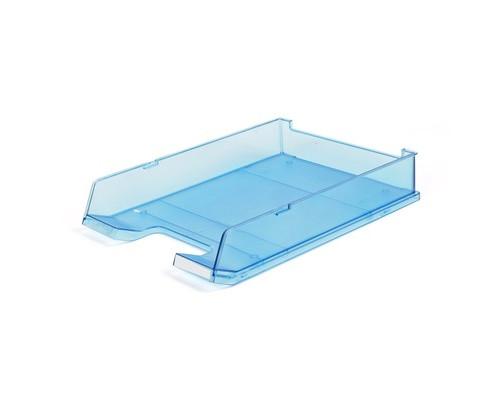 Лоток для бумаг горизонтальный Han прозрачный синий - (65371К)