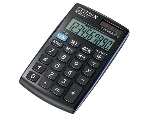 Калькулятор карманный Citizen SLD-377 10-разрядный - (218881К)
