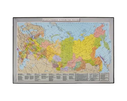 Коврик на стол Attache Россия и сопредельные государства 38х59 см цветной ПВХ - (46960К)