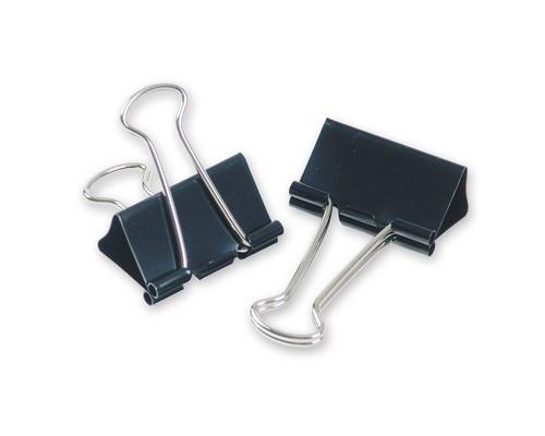 Зажимы для бумаг Attache 32 мм черные 12 штук в упаковке - (509180К)