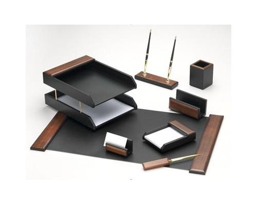Набор настольный деревянный 8 предметов темный орех - (407845К)