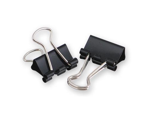 Зажимы для бумаг Attache 15 мм черные 12 штук в коробке - (73589К)