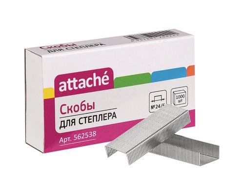 Скобы к степлеру №24/6 ATTACHE оцинкованные 1000 шт в упаковке - (562538К)