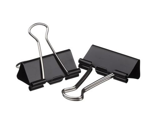 Зажимы для бумаг Attache 15 мм черные 12 штук в упаковке - (509185К)