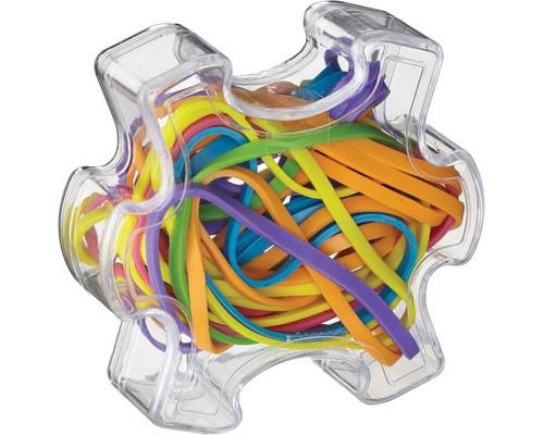 Набор цветных банковских резинок Attache Selection в контейнере-пазле - (383078К)