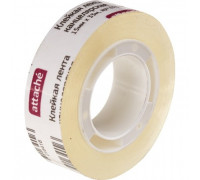 Клейкая лента канцелярская Attache прозрачная 15 мм х 33 м - (376286К)