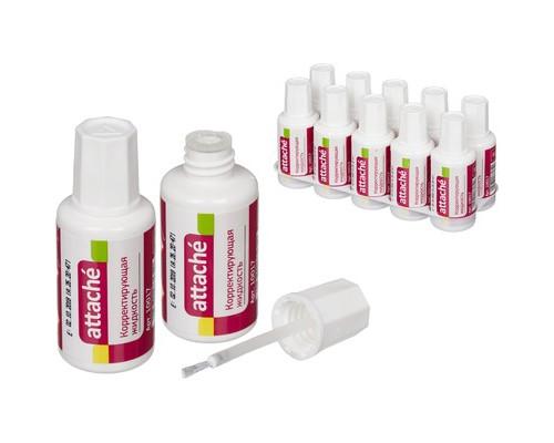 Корректирующая жидкость Attache быстросохнущая 20 мл - (10017К)