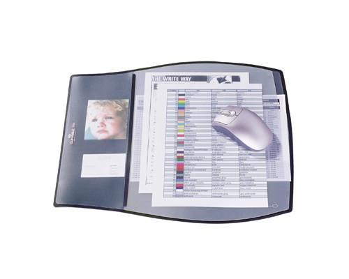 Настольный коврик Durable 39х44 см черный мягкий пластик 3 верхних слоя - (107522К)