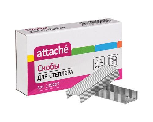 Скобы для степлера №24/6 Attache оцинкованные 1000 штук в упаковке - (139205К)