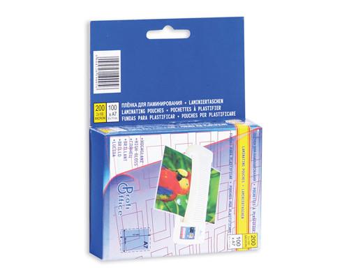 Пленка для ламинирования ProfiOffice 80х111 мм 2х100 мкм глянцевая 100 штук в упаковке - (62552К)