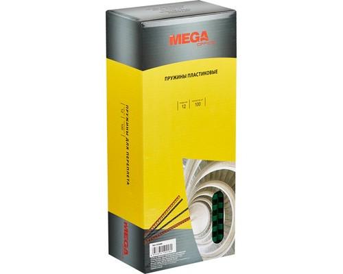 Пружины для переплета пластиковые ProMega Office 12 мм зеленые 100 штук в упаковке - (255088К)