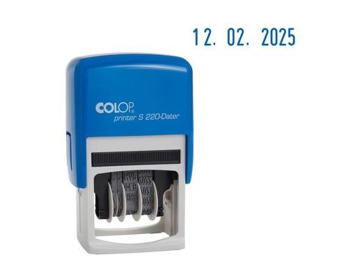 Датер автоматический пластиковый Colop S220 Bank шрифт 4 мм месяц обозначается цифрами - (218981К)