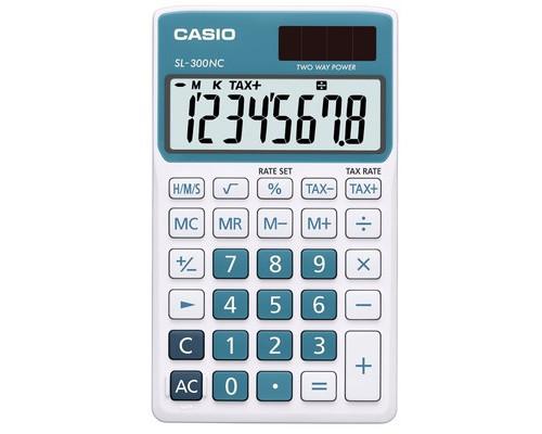 Калькулятор настольный Casio SL-300NC-BU-S-EH 8-разрядный синий - (489026К)