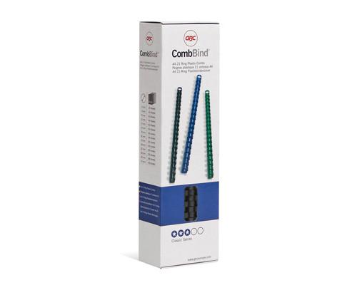 Пружины для переплета пластиковые GBC 6 мм черные 100 штук в упаковке - (169478К)