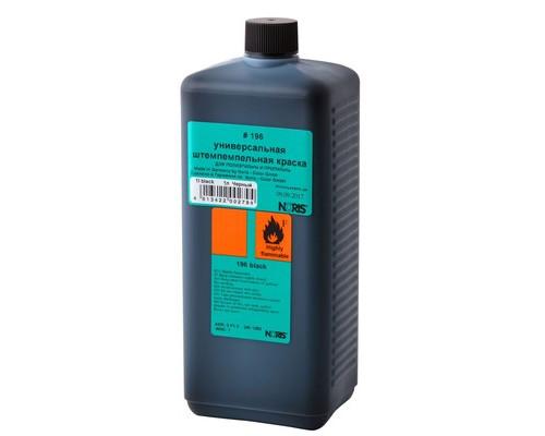 Краска штемпельная Noris универсальная черная для полиэтилена и пластика 1 литр - (520398К)