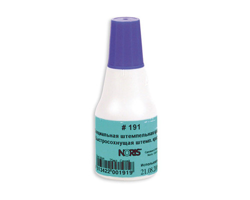Краска штемпельная универсальная Noris 191А синяя для глянцевой бумаги металла пластика 25 мл - (22317К)