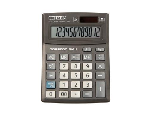 Калькулятор настольный Citizen Correct SD-212 12-разрядный черный - (480264К)