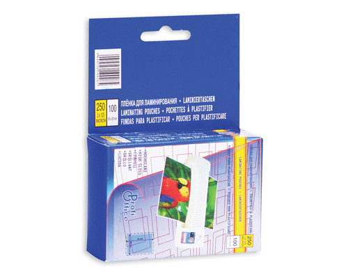 Пленка для ламинирования ProfiOffice 65х95 мм 2х125 мкм глянцевая 100 штук в упаковке - (14924К)