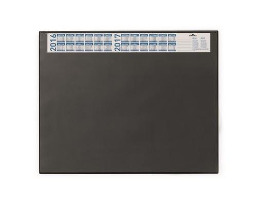 Коврик на стол DURABLE 7204-01 с календарем 52х65 прозрачный верхний лист черный - (62096К)