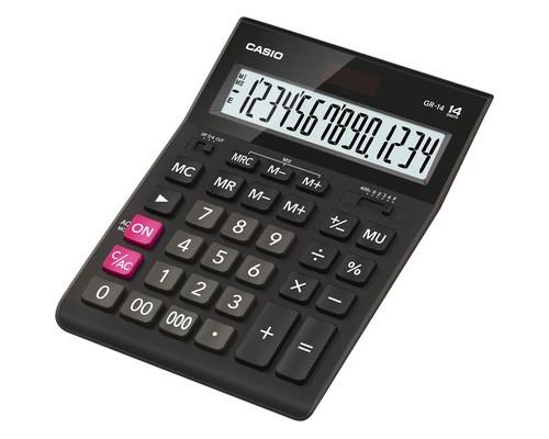 Калькулятор настольный Casio GR-14 14-разрядный черный - (394705К)