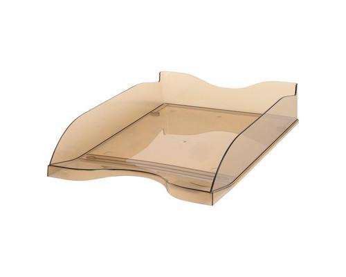 Лоток для бумаг горизонтальный Стамм тонированный коричневый 2 штуки в упаковке - (115669К)