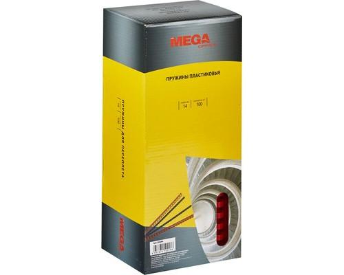 Пружины для переплета пластиковые ProMega Office 14 мм красные 100 штук в упаковке - (255094К)