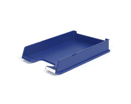 Лоток для бумаг горизонтальный Han матовый синий - (65370К)