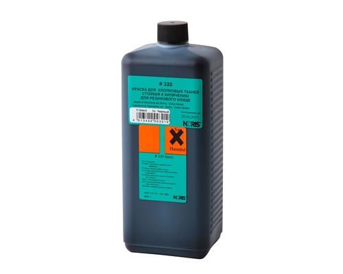 Краска штемпельная специальная 320Е для ткани чёрная 1л - (520399К)